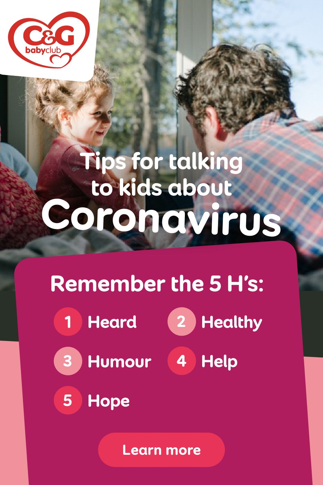 Little one still full of questions? Read Dr Coulson's 5 tips for talking to kids about Coronavirus.