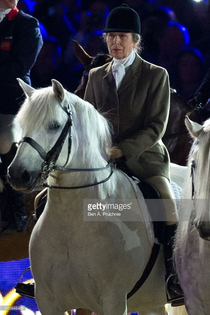 Anne Princess Royal Rides A Horse During Queen Elizabeth IIs Birthday Celebrations At Home Park Windsor On May 2016 In England