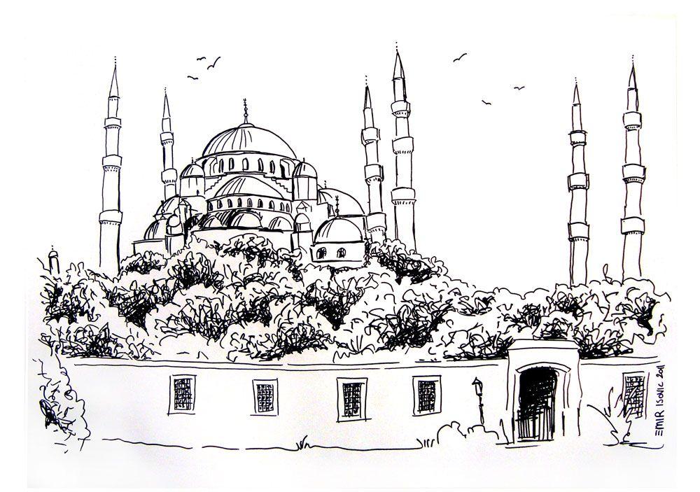 Sultan Ahmet Camii Boyama Sayfalari Resim Cizimler