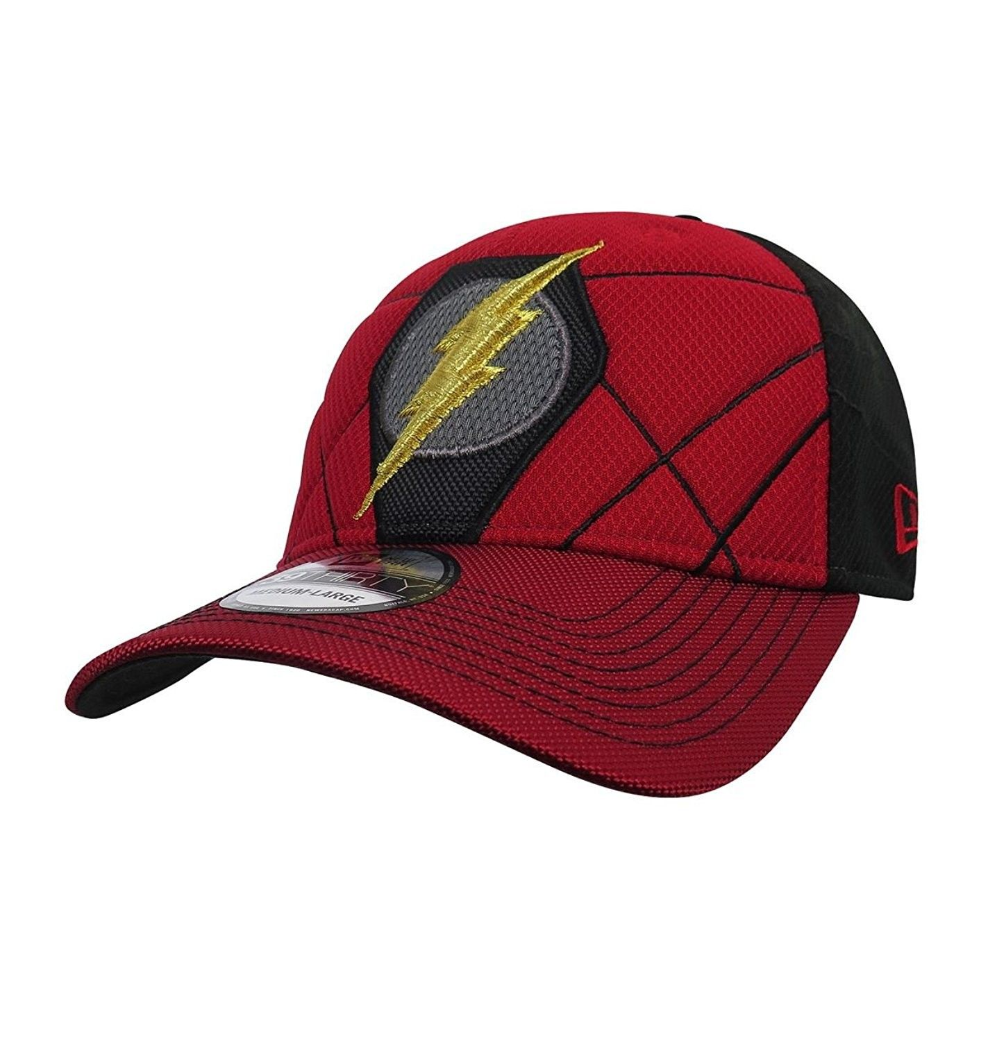 Flash Logo Justice League Armor 39thirty Fitted Hat C9186gzelir New Era Hats Fitted Hats Hats For Men