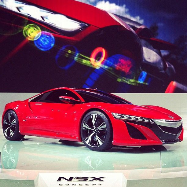 Cherry Red #Acura #NSX Concept @ Beijing Motor Show