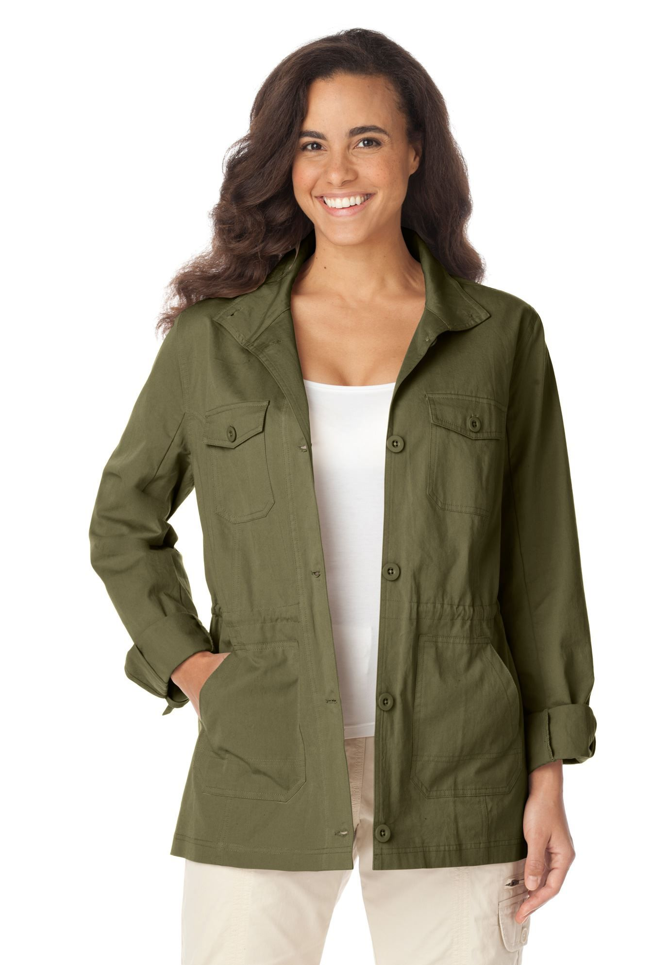 Plus Size Sport twill jacket WWIdealSummer Twill jacket