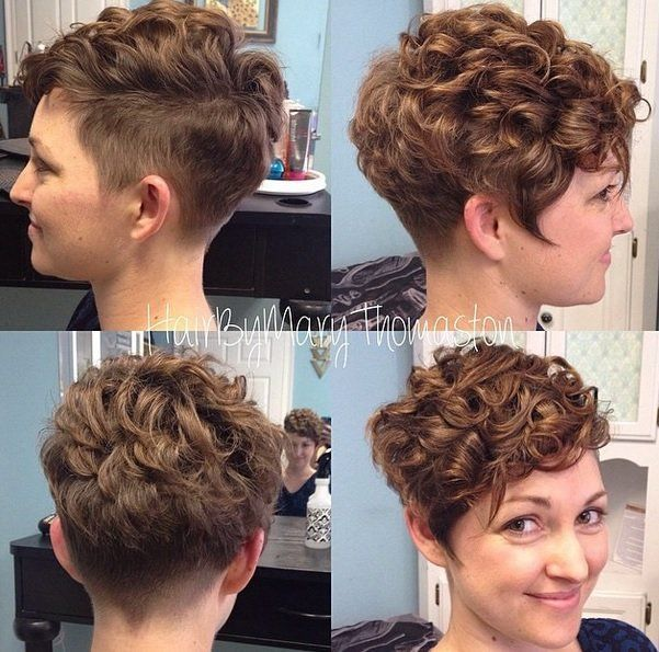 Pin by Lauren Rhoades on curly pixie
