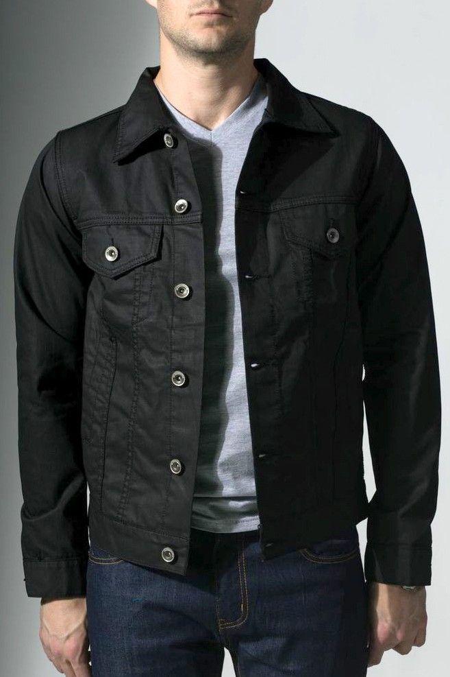 Badass 20jeans Black Jacket In Coated Denim Notorious} Men's qPXTAA