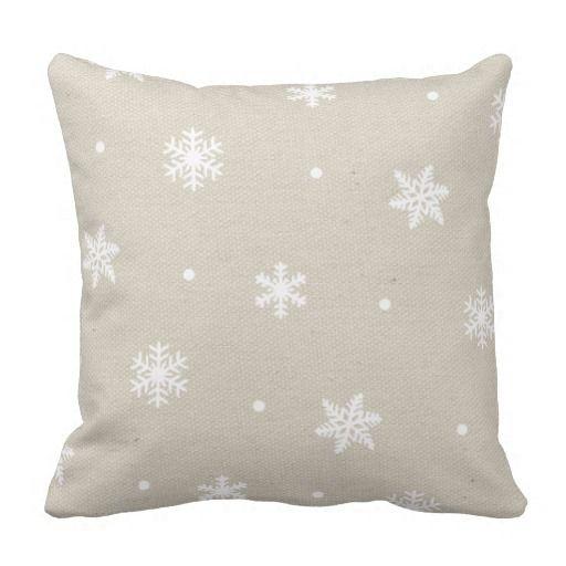 Rustic Faux Canvas Texture Snowflakes Pattern
