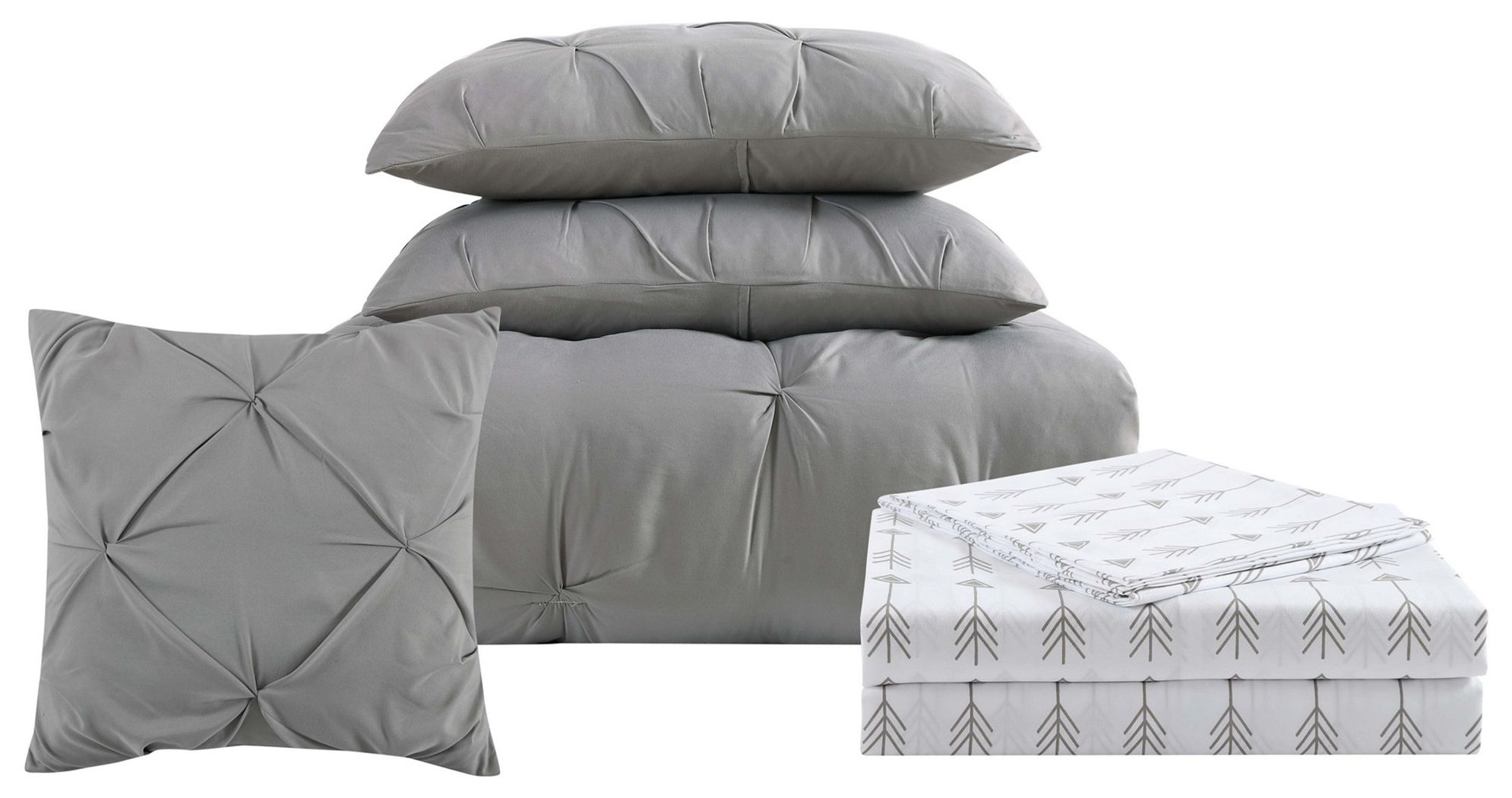 3 Piece Twin Xl Comforter Set Gray Products In 2019 Full