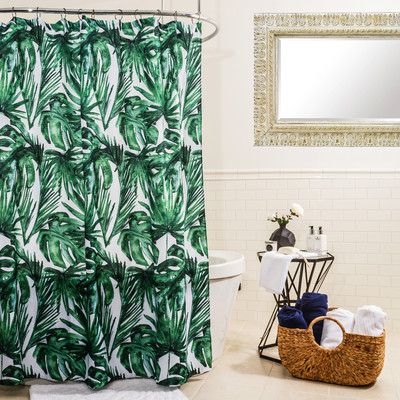 Splash Home Palm Balsa Shower Curtain You Ll Love Wayfair Palm Springs Decor Shower Curtain Curtains