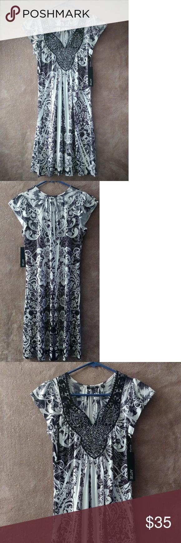 Apt 9 Black & White Dress Size XS Apt 9 Black