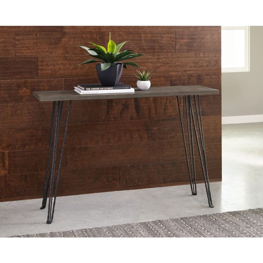 Marrowstone Concrete And Metal Console Table Black In 2019