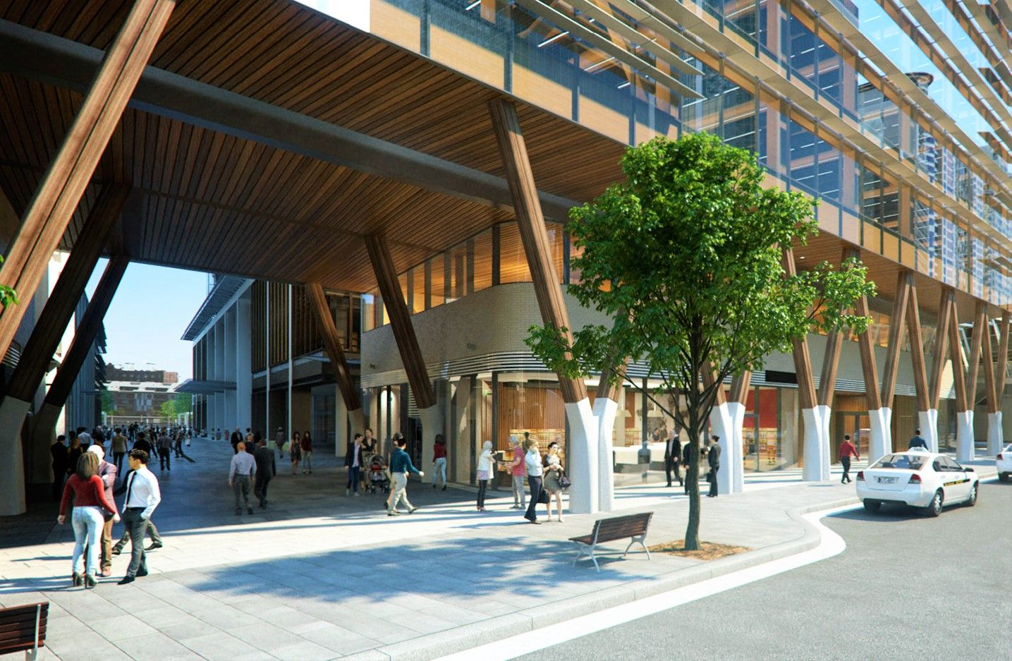 wooden office buildings. Lendlease And Tzannes Architects Unveil International House Sydney \u2013 Australia\u0027s First Wooden Commercial Office Building Located Buildings R