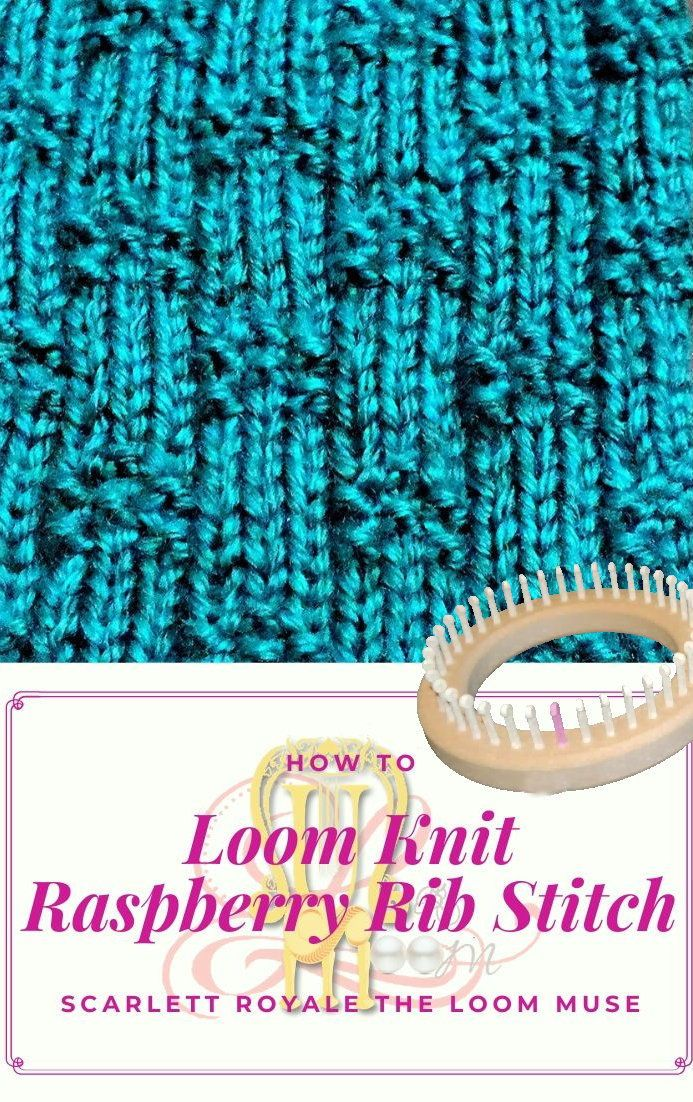 Photo of April Stitch Pattern of the Month Raspberry Rib Stitch