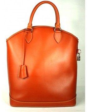2bad863ab772 Louis Vuitton excellent (EX Cognac Leather Lockit Tote Bag  Layaway ...
