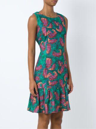 Isolda vestido estampado - Azul farfetch MG1ul01HTo