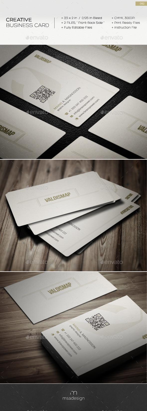 Creative Business Card 082 #template #creative #business
