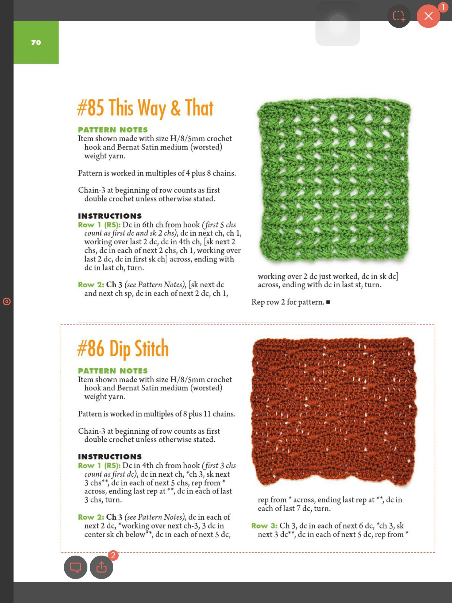 This Way And That Dip Stitch 1 Crochet Patterns Diagrams Double Diagram Easy Stitches