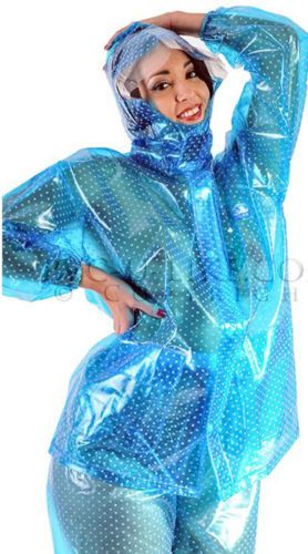 Regenjacke Regenhose Regenanzug Raincoat Impermeable aus PVC unisex