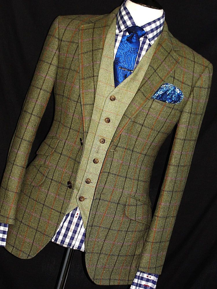 NEW MENS HACKETT LONDON JUBILEE TWEED SHOOTING WINDOWPANE