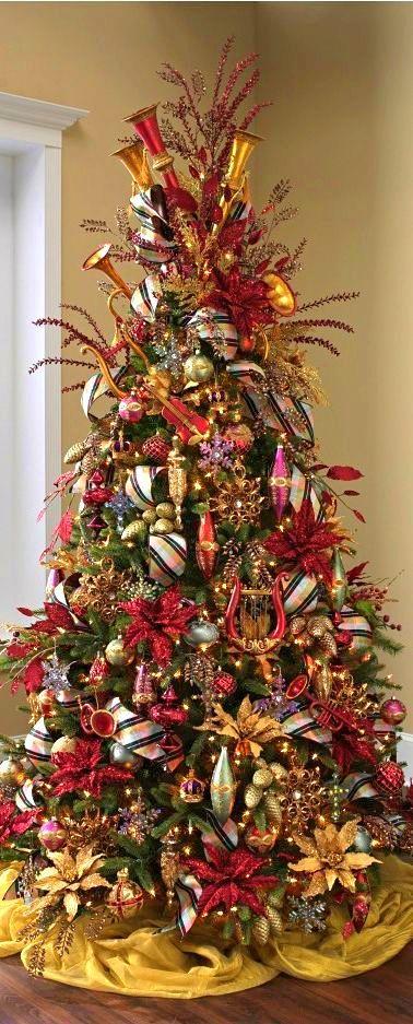 Arbol de navidad con temática de instrumentos musicales ...