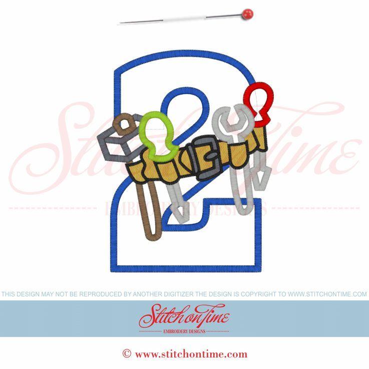 Tools (5) 2 With Tool Belt Applique 5x7