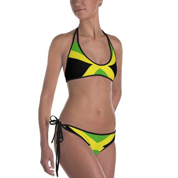5c4af5ca38b8d Jamaica bikini for women Jamaica swimsuit Jamaican flag swimsuit Jamaica  color swimsuit Bathing Suit