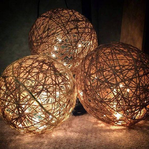 Twine Tea Light Spheres