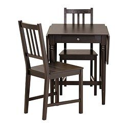 Ingatorp  Stefan Table And 2 Chairs Blackbrown  Dining Sets Fascinating 2 Chair Dining Room Set Inspiration