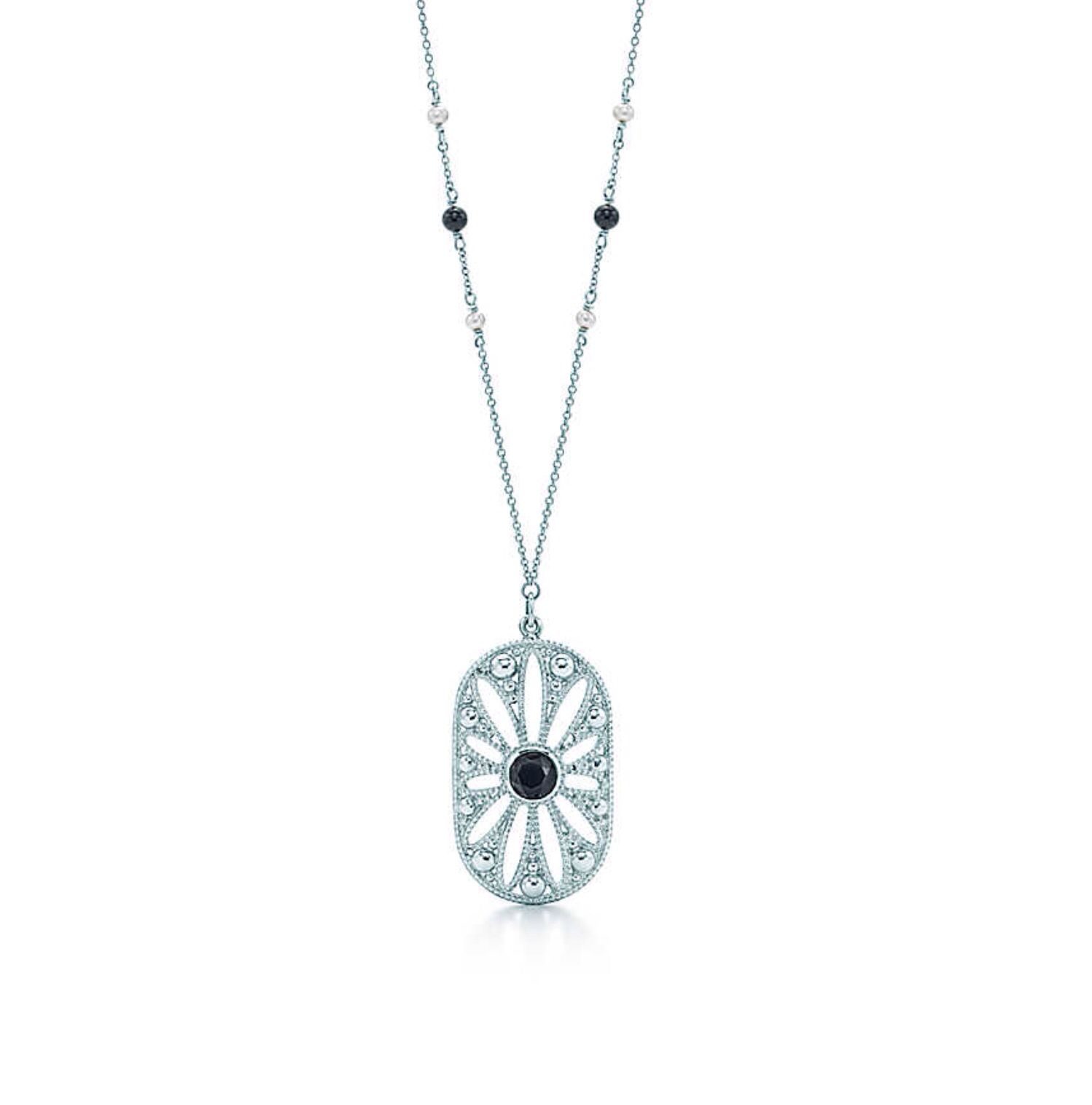 2af7d5125 Tiffany & Co, Ziegfeld Collection Daisy Pendant. Pendant in sterling silver  on a 24