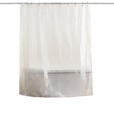Symple Stuff Anti Mildew Single Shower Curtain Liner Vinyl