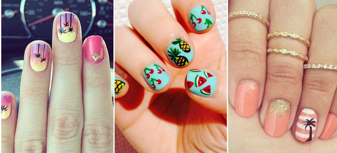 Diseños De Uñas Para La Playa Uñas Pinterest Nail Designs Y Nails