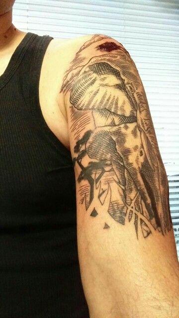 Segunda y va quedando - Vieja Escuela Tattoo @maxiespino