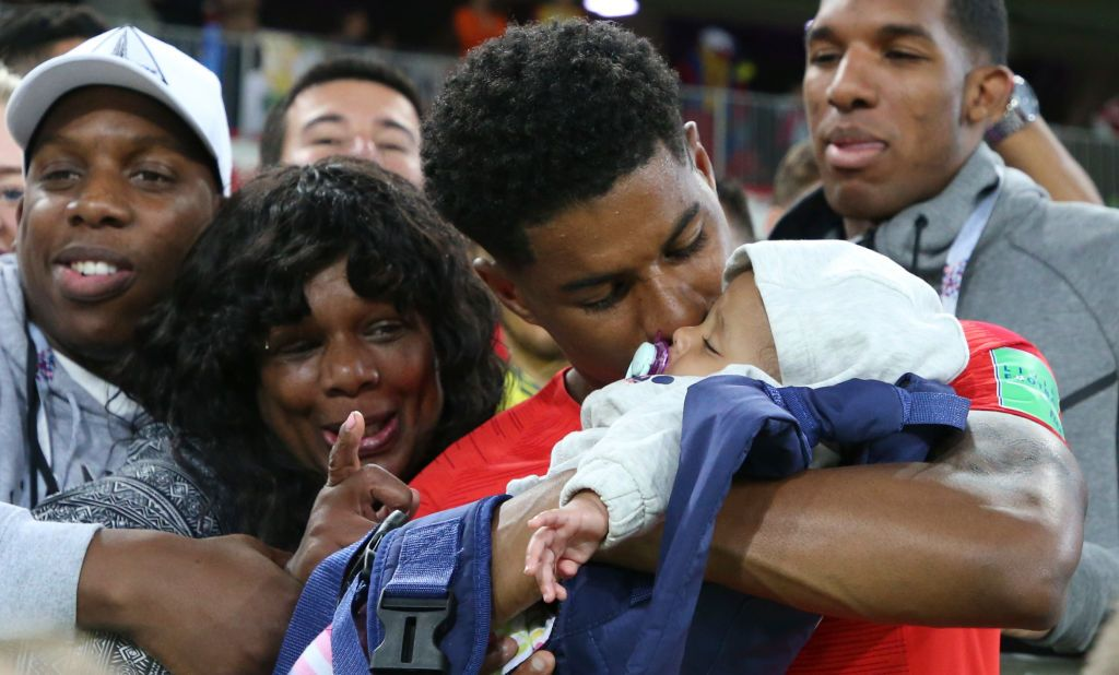 Marcus Rashford Of England Joins His Family Following The 2018 Fifa Marcus Rashford Soccer Players England Players
