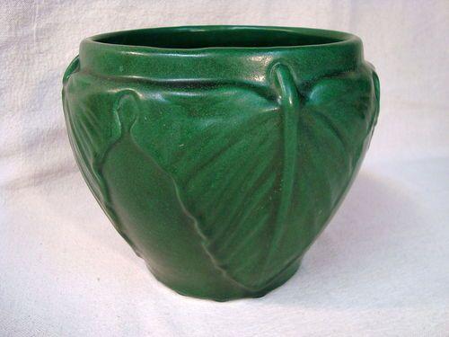 Vintage Original Weller Matte Green Jardiniere Arts Crafts | eBay
