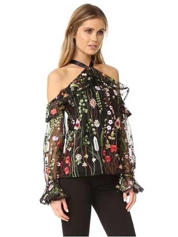 b7bc8e4a7 Blusa de Tule Bordado Off Shoulder - Ref.1081 - comprar online