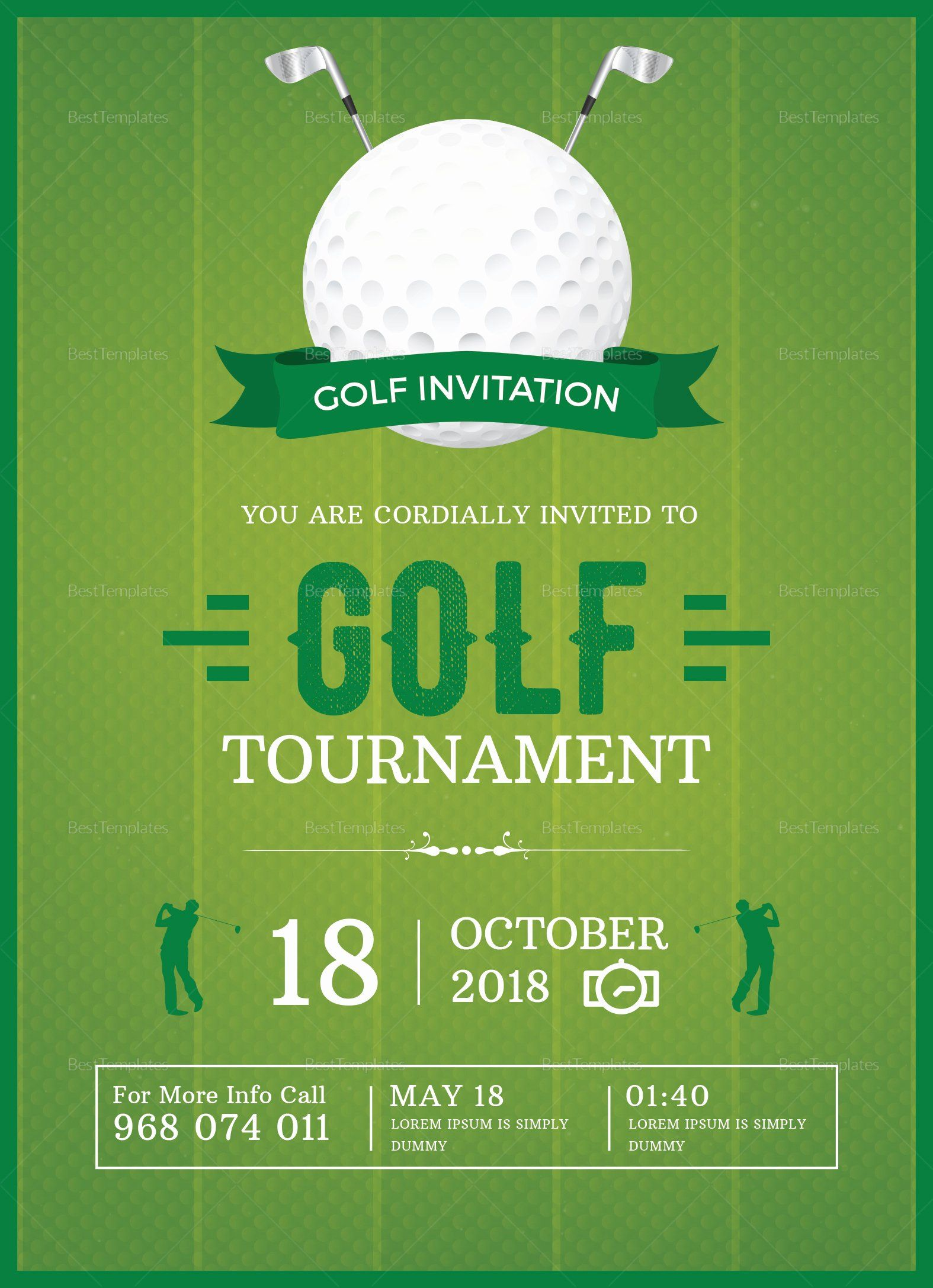 Golf Tournament Invitation Template Free Fresh Golf Invitation Design Template In Word Psd Publi Golf Invitation Invitation Template Invitation Design Template
