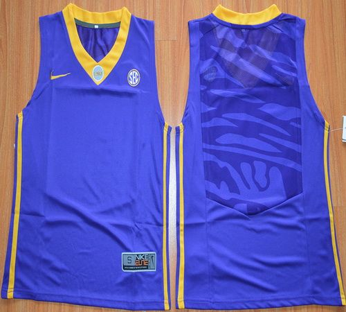 Youth LSU Tigers Blank 00 NCAA Basketball Elite Jersey - Gold ... a6ed0c61a
