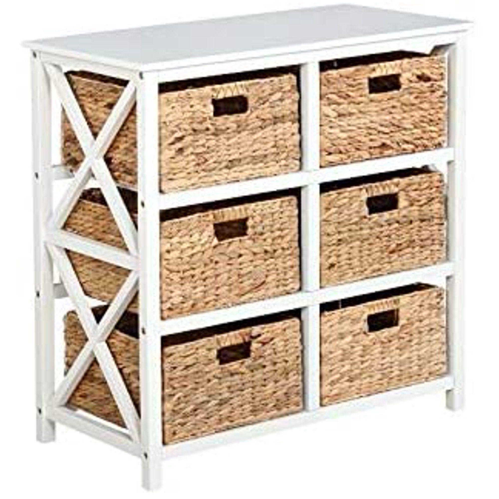3 Tier X Side Storage Cabinet With 6 Baskets In White Walmart Com In 2021 Storage Cabinet With Baskets Drawer Storage Unit Storage Furniture Bedroom
