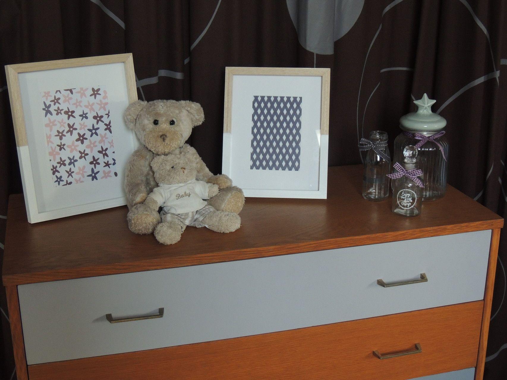 meuble r nov josephine look vintage pour cette commode en bois ch ne dor et peinte dans. Black Bedroom Furniture Sets. Home Design Ideas