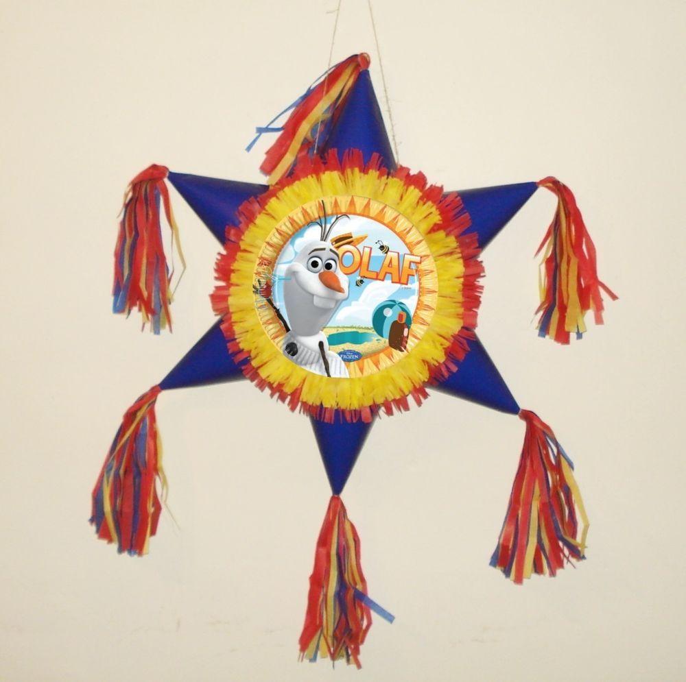 Frozen Pinata Olaf. Star shaped Pinata  #Handmade #BirthdayChild