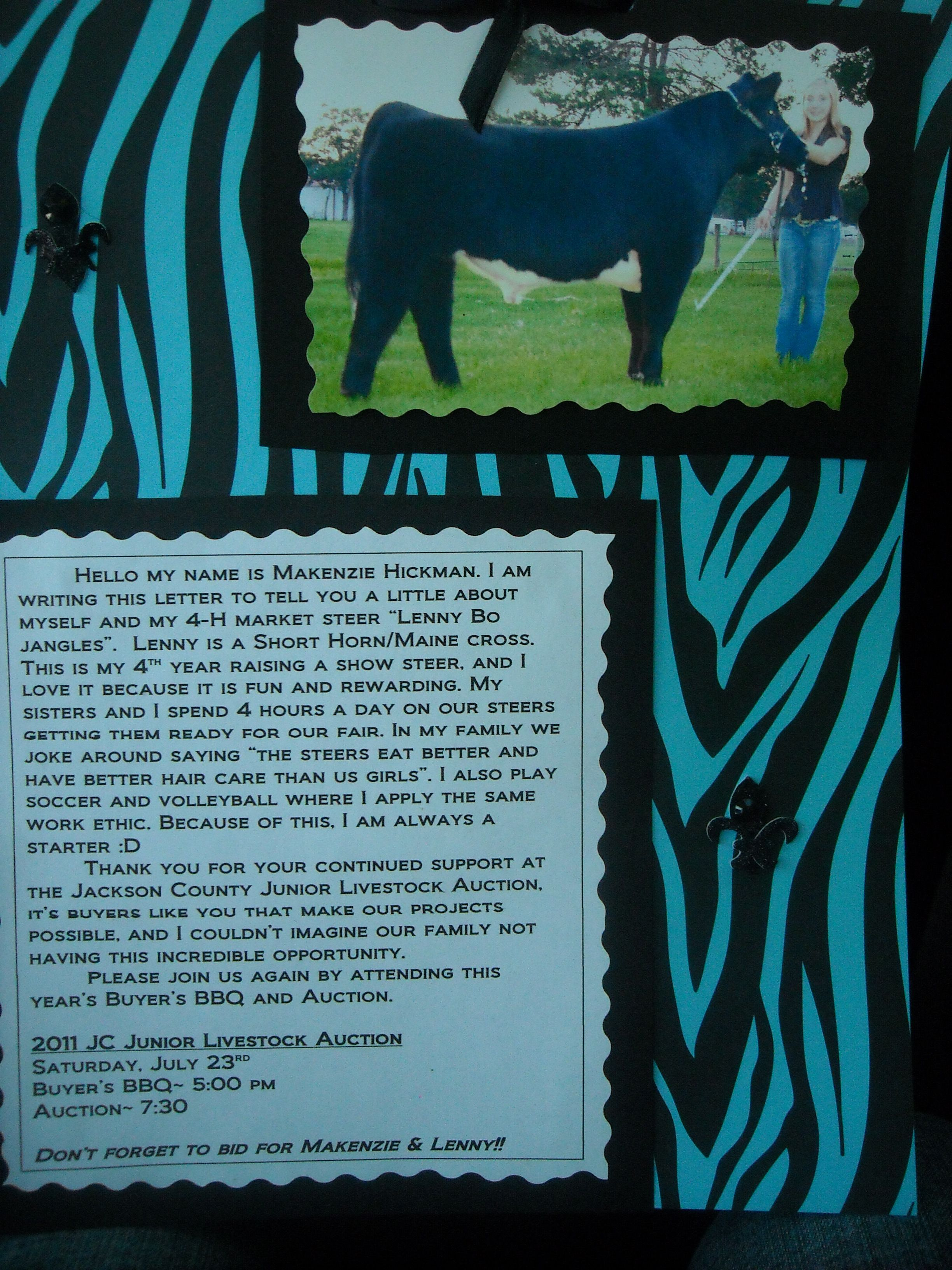 Image Result For 4h Livestock Buyer Letters Animal Science