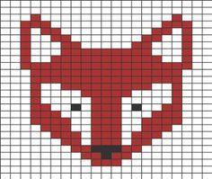 Quadrillage Pixel Animaux Renard Point De Croix Pinterest