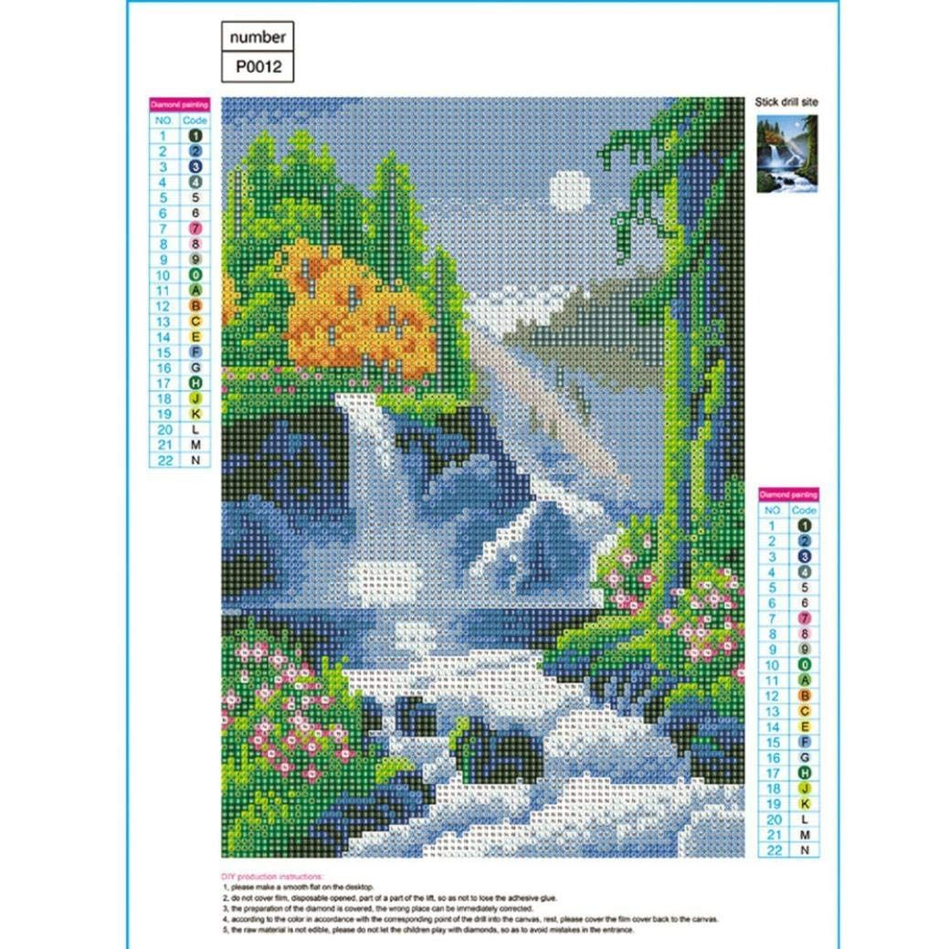 DIY 5D Diamond Picture F, 15.7/×11.8 vmree Full Drill Rhinestone Embroidery Painting Crystals Pasted Handcraft Cross Stitch Handiwork Kits Visual Arts Home Decor