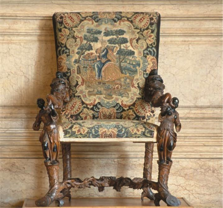 Italian Sofa Brent Cross: Armchair, 1706; Now In Ca'Rezzonico, Venice, Italy; Andrea