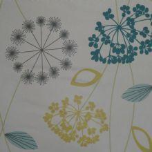 Allium Matt Oilcloth In Turquoise Oil Cloth Fabric Wallpaper