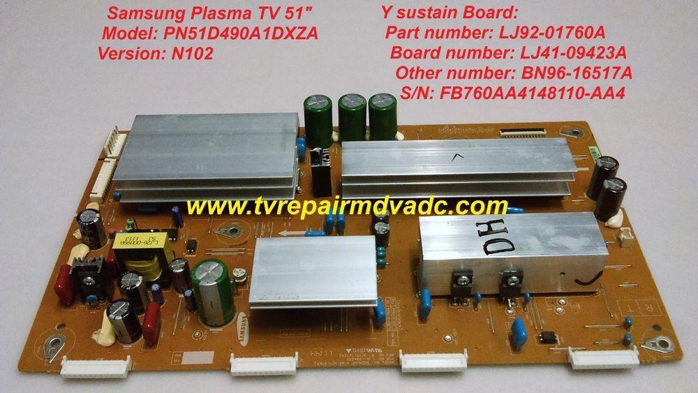 Samsung Plasma PN51D490A1 (N102)  Y sustain Board: LJ92