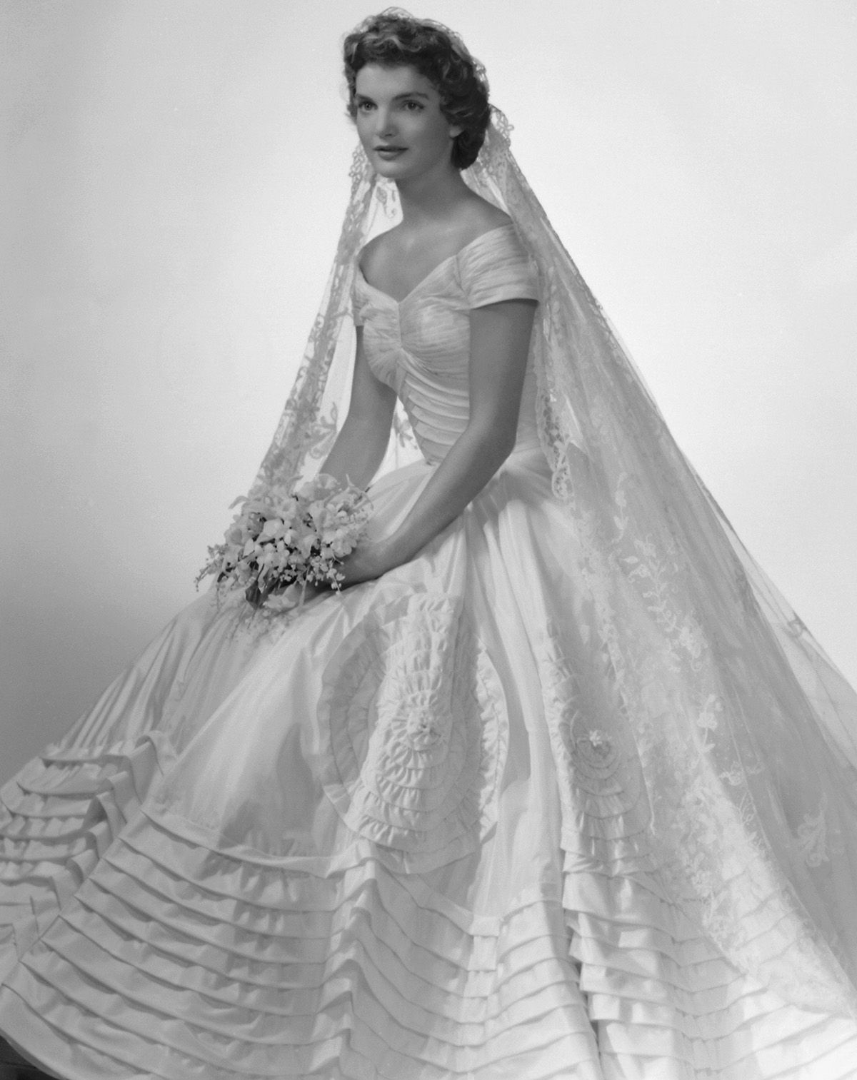 Famous wedding dresses   Bridal Gowns That Channel the Timeless Style of Jackie Kennedyus