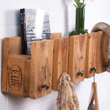perchero fabricado con pallets reciclados - Percheros Originales