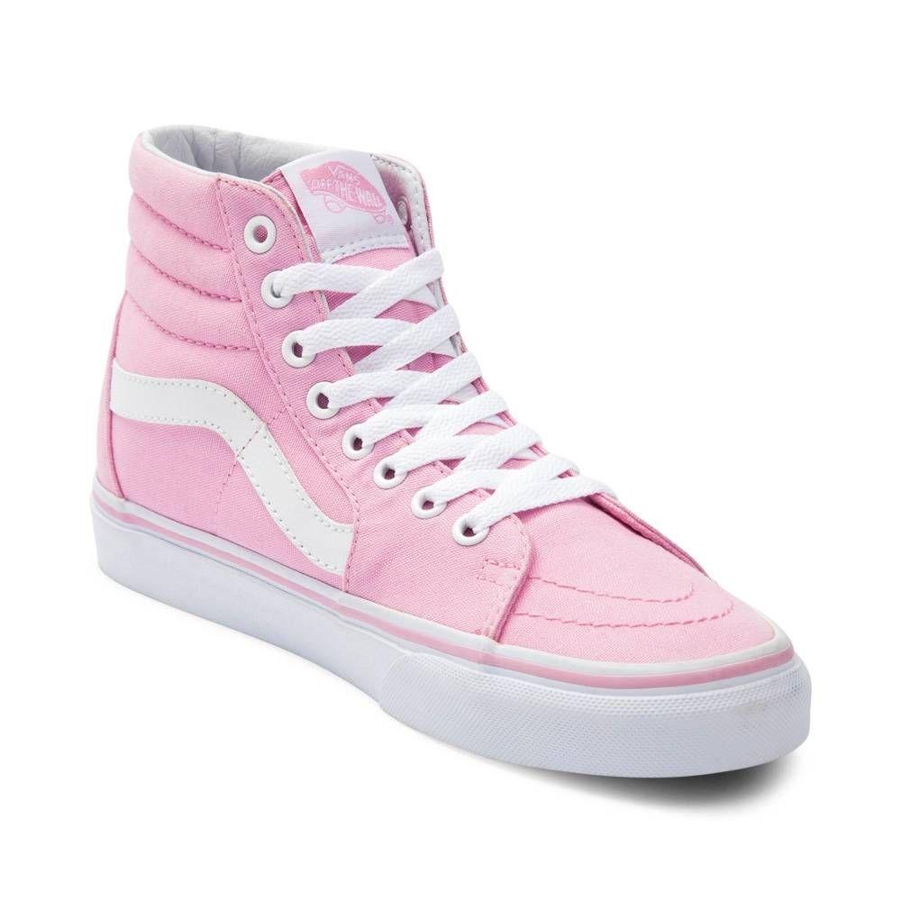 Pink vans, Pink hightop vans, Skate shoes