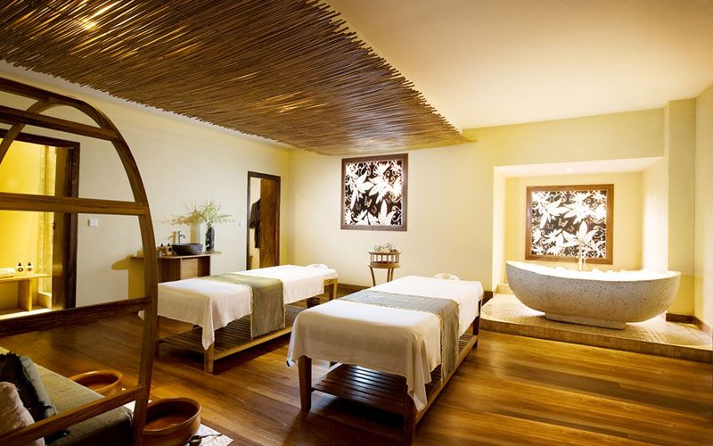 Treatment room at Bamboo Spa by L'Occitane. Jimbaran Bay Bali