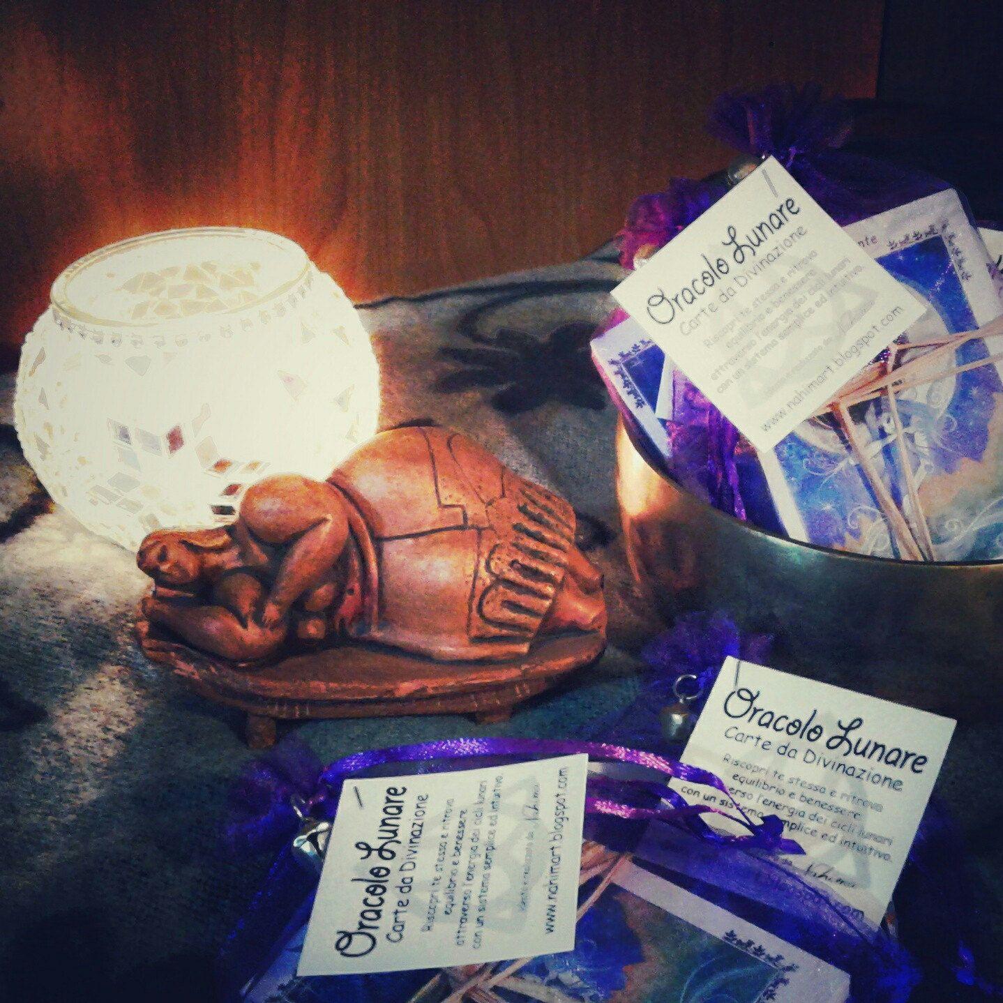 Lunar Oracle cards! Wicca pagan divination. Moon Goddess! #theartofnahima