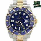 2014 PAPERS Rolex Submariner Blue Ceramic 116613 LB Two Tone Gold Dive Watch Box #Rolex #Watch #rolexsubmariner